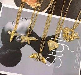 $enCountryForm.capitalKeyWord Australia - Hip hop angel cake rhinestone personality pendant necklace women and men sweater chain