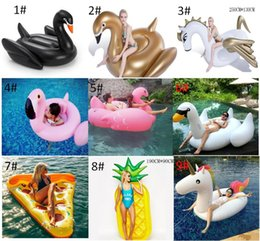 inflatables for pools Australia - 190CM Giant Inflatable Flamingo Unicorn Swan Pegasus Pool Toy Swimming Float Swan Cute Ride-On Pool Swim Ring For Summer Holiday Fun Party