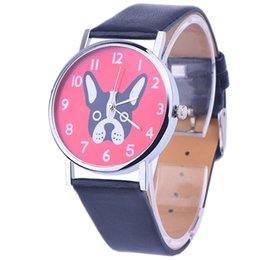 $enCountryForm.capitalKeyWord NZ - Vogue Ladies Casual Wrist Watches Women Cute Dog Cartoon Quartz Watch Unisex Sport Clock PU Leather Strap Analog Watches #Zer