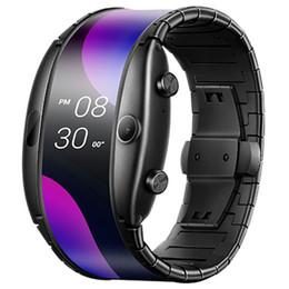 "Original Nubia Alpha Smart Mobile Phone Watch 4.01"" Foldable Flexible Screen Snapdragon Wear 2100 Quad Core 1GB RAM 8GB ROM 5MP Wristwatch on Sale"