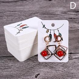Handmade Cards Sale Australia - Hot sale 100pcs Lot DIY handmade Earring Stud Packing CardEarrings Display Fashion Jewelry Colorful Card Organizer Tags