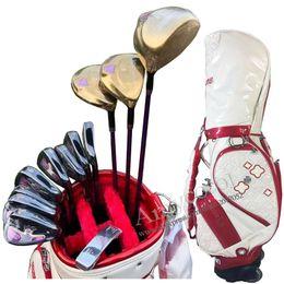 Опт Новый женщин именно maruman гольф-клубы Величество Prestigio работает 9 клубов комплекты диск гольф фарватера древесины клюшки айроны л гибкий графит Гольф вал