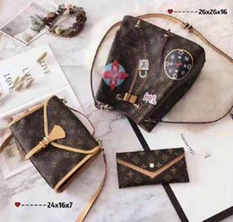$enCountryForm.capitalKeyWord Australia - Designer Handbags Brand Bag Paris Real Leather Luxury Handbags Shopping Bag Shoulder Bag Fashion Clutch Bags Wallet Purse 1 Piece=3 bags L28