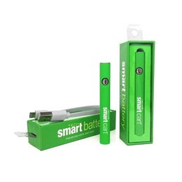 smart pen wholesale UK - 5pc smart battery Preheat vape pen with charger kit Variable Voltage Ego Thread 380Mah For all 510 cartridges smart carts