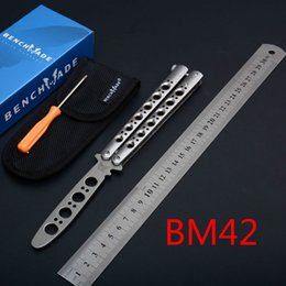 wholesale butterfly knives Australia - Benchmade Theone Classic BM42 SWING CNC Fitting 440 Blade 60HRC BM40 BM31 BM940 BM940-1 BM43 BENCHMADE BM42 KNIFE Fitting Tool