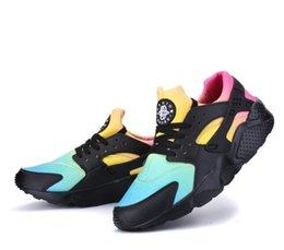 2019 Moda Huarache Ultra casual Sapatos Huaraches Rainbow Ultra Confortável Sapatos Das Mulheres Dos Homens Huraches Multicolor Sapatos Casuais TamanhoEUR36-46 venda por atacado
