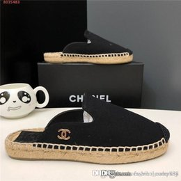 $enCountryForm.capitalKeyWord Australia - 2019 Classic women slipper Casual canvas shoes Straw Wovening Sole Summer living at home Flat Shoes for Ladies Size 34-42