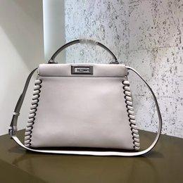 Women Best Quality tote Classic peek and aboo Handbag messenger bag vintage  Woven edge ladies shoulder bags Genuine leather cowhide handbags 5c9e40c17331b