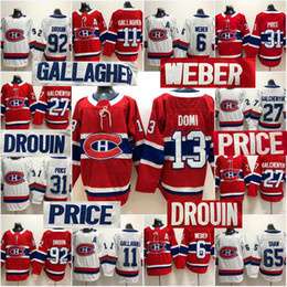 18967c07d Men Montreal Canadiens Max Domi Shea Weber Brendan Gallagher Karl Alzner Carey  Price Andrew Shaw Jonathan Drouin Hockey Jersey