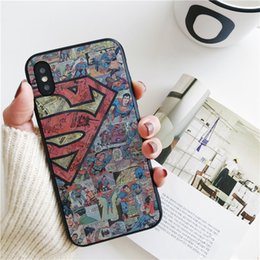 Discount superman iphone cases - Fundas Luxury Cartoon Superman Cover for iPhone 11 Pro Xs Max Xr Case for iPhone 8 7 6s Plus 5S SE 5 Case Soft Silicone