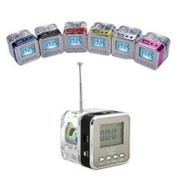Mini Portable Speaker Sd Slot UK - NiZHi TT-029 Stereo Speaker Mini LED Display Surround Sound Box Music Player with Crystal FM Alarm Clock TF SD Slot USB VS TDV26