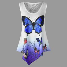 648a7b80d Butterfly t shirt design online shopping - Women Sleeveless T shirt D  Butterfly Print Casual Tshirt
