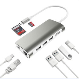 Hub cables online shopping - USB HUB Type C To HDMI RJ45 Adapter For iPhone Macbook Samsung Huawei Type C USB HUB