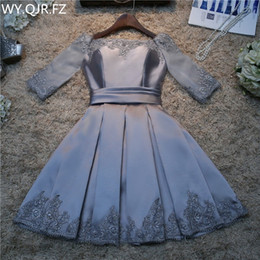 Dress marrieD short online shopping - Real photos fashion prom spring summer new bride married toast clothing bridesmaid dress short silver