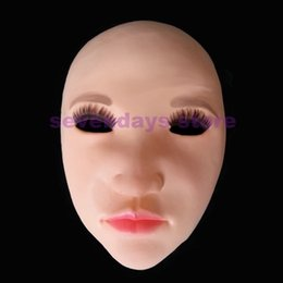 Human Face Masks NZ - High Quality Latex Lady Human crossdress female mask realistic silicone party mask Women Cosplay Man Face Mask in Stock