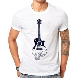 Guitar Tees Australia - 100% Cotton 3d Cute Guitar T-shirts Men Summer Tops Tees Shirt Men O-neck Short Sleeve Fashion T Shirts Plus Size