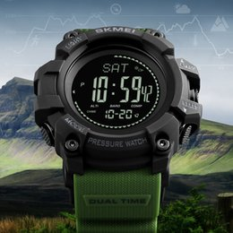 Creative Led Sport Watch For Men Military Waterproof Altimeter Compass Wrist Watch Stopwatch Fishing Barometer Pedometer Male Watch #4m10 Watches