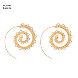 7205b9926 Swirl flower online shopping - Tocona Ornate Swirl Hoop Gypsy Indian Tribal  Ethnic Earrings Boho Earrings