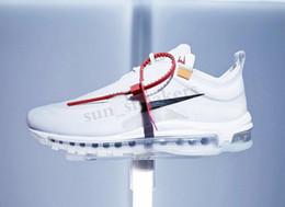 NIKE Air max 97 97 белый 97s Menta кроссовки для мужчин Женщины спорт air Mens Womens Off тренеры maxes кроссовки размер 5.5-12 RG03 на Распродаже