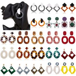 Earring Stud Boho Australia - Women New Boho Geometric Dangle Drop Hook Acrylic Resin Ear Stud Earrings Jewelry Tassel Stud Earring
