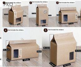 $enCountryForm.capitalKeyWord NZ - 10pcs Kraft Paper Packaging Box Large Gift Boxes for Tea Cookie Brown Cupcake Cake Box Craft Cardboard Carton High Quality