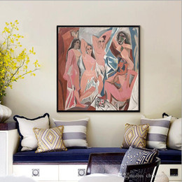 picasso arts UK - vA. Classic Artist Pablo Picasso Avignon girls Handpainted HD Print Abstract Art Oil Painting On Canvas Wall Art Home Deco High Quality P131