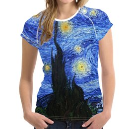 $enCountryForm.capitalKeyWord Australia - Van Gogh T-shirt Xl Famous Painting Printing Spring Summer Lover Top Female Wear Easy Short Sleeve T Shirt Women Streetwear S19715