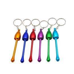 Mini keychain pipe online shopping - Smoking Pipes Mini Keychain Mushroom Styles Smoking Accessories Ultimate Pipe Mini Aluminum Metal Keychain Smoking Pipe CCA11586