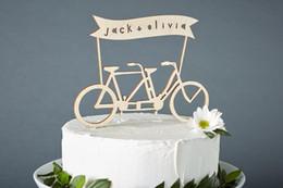 bicycle cake 2019 - Tandem Bike Wedding Cake Topper - Bicycle Cake Topper - Birch Lasercut cheap bicycle cake