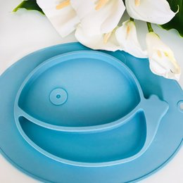 $enCountryForm.capitalKeyWord Australia - Baby Silicone Plate BPA Free Non Slip Solid Feeding Bowls Plates Suction Children Tableware Food Containers Kids Dishes Odorless