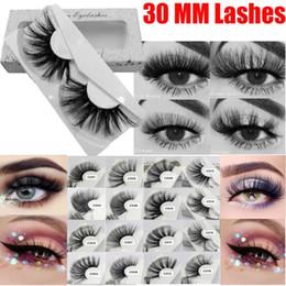 Naturals False Eyelashes Australia - 30mm Mink Eyelashes 100% mink Hair False Eyelashes Wispy Fluffy Lashes Eye Makeup Tools Multilayers Handmade Natural Lashes