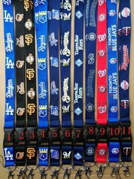 Badge flag online shopping - ocs baseball Neck Lanyard Keys key chain Badge Holders Dodgers Diamondbacks Mobile Phone Neck Straps