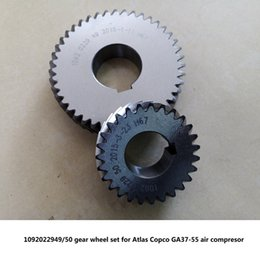 gears shafts NZ - Free shipping Genuine gear wheel set driven gear shaft 1092022949 50 for AC GA37-55 screw air compressor parts