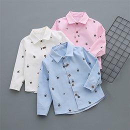 Toddler Boy 4t Australia - Casual Sports Toddler Kids Boys Long Sleeve Cartoon Bear Pattern Shirt Tops Blouse Clothes Outfits Shirt
