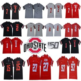 Buckeyes jerseys online shopping - 150 TH Ohio State Buckeyes Justin Fields Chase Young Dwayne Haskins Jr Eddie George Nick Bosa Elliott NCAA Football Jerseys