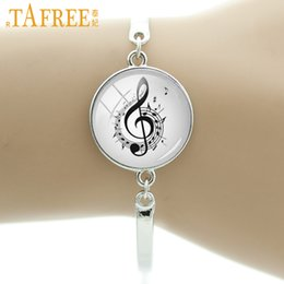 fancy charm bracelet 2019 - TAFREE Brand Vintage musical note bracelet charm fancy music heart musician jewelry retro Christmas snowflake women gift