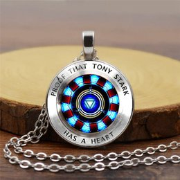 fashion initials pendant Australia - 2019 New Creative Pendant Necklace Accessories Iron Man Heart Time Gemstone Necklace Poly Energy Fashion Pendant Necklace Sweater Chain