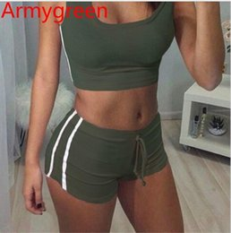 army outfit pieces Australia - 2 colors Women Outfit women two piece outfits Leisure Jogging Outfits Short Sleeve T-shirt Boducon Shorts Yoga Suit
