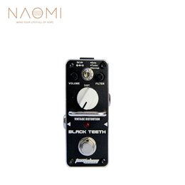 vintage effects pedal 2019 - AROMA ABT-3 Guitar Effect Pedal Black Teeth Vintage Distortion Electric Guitar Effect Pedal Mini Single Effect With True