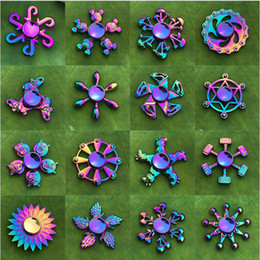 top new toys Canada - New Colorful Fingertip Gyro Zinc Alloy Decompression Toy Hand Spinner Finger Gyro Factory Wholesale Spinning Top
