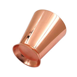 $enCountryForm.capitalKeyWord Australia - 304 Stainless Steel Cocktail Glass Mint Mule Mojito Horn Cup Rose Gold Coffee Beer Mug Party Barware Kitchen Water Juice Drinkware