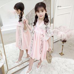 $enCountryForm.capitalKeyWord Australia - Girls Tang suit new Hanfu dress Chinese style costume butterfly dress children skirt princess dress children's costumes