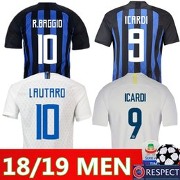 85db7d707 Thai Quality Inter Home Away Soccer Jerseys 2018 2019 PERISIC ICARDI  BROZOVIC NAINGGOLAN CANDREVA Milan Football Shirts Plus Size S-XXL