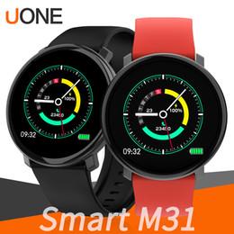 Smart watch tracker online shopping - M31 Smart Bracelet Band Bluetooth Fitbit Tracker Wristband Blood Pressure Watch Dynamic Heart Rate Full Screen Touch Sleep Monitor