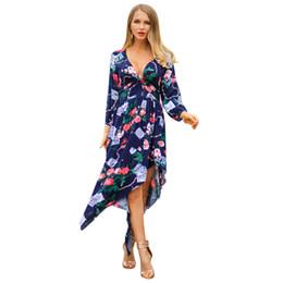 $enCountryForm.capitalKeyWord UK - Original Designer Suit-dress Product women mini club Genuine Dress 2019 Spring Printing V Lead Fashion Clothes woman size dresses models