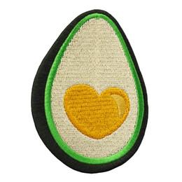 $enCountryForm.capitalKeyWord Australia - New Design Cartoon Fruit Avocado Embroidery Patch DIY Iron On Sew On Applique For Clothing Decoration Custom Design
