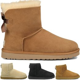 Black sheep flats shoes online shopping - Women winter Snow Boots Classic Style Cow Suede Leather Waterproof Winter Warm Knee short Long Boots outdoor male sheep Australia shoes