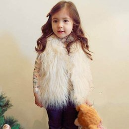 Baby Boys Knit Vest Australia - Girls Faux Fur Vests Baby Girls Christmas Kids Vests & Waistcoats Vest Girl Knit Outerwear Baby Girl Winter Clothes For 1-10Y