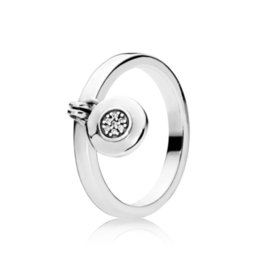 Chinese  Kristie 100% 925 Sterling Silver Charm 197400CZ Logo Padlock Ring Fashion Women's Jewelry Tanabata Day Gift manufacturers
