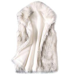 Discount fashion winter vest woman - Women Faux Fur Vest Coat Winter 2019 Fashion Casual Warm Slim Sleeveless Faux Fox Fur Vest Spring Winter Wild Pockets Ja